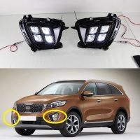 1 Set Top Quality LED DRL Fog Daytime Running Lamp Light For New KIA Sorento 2015