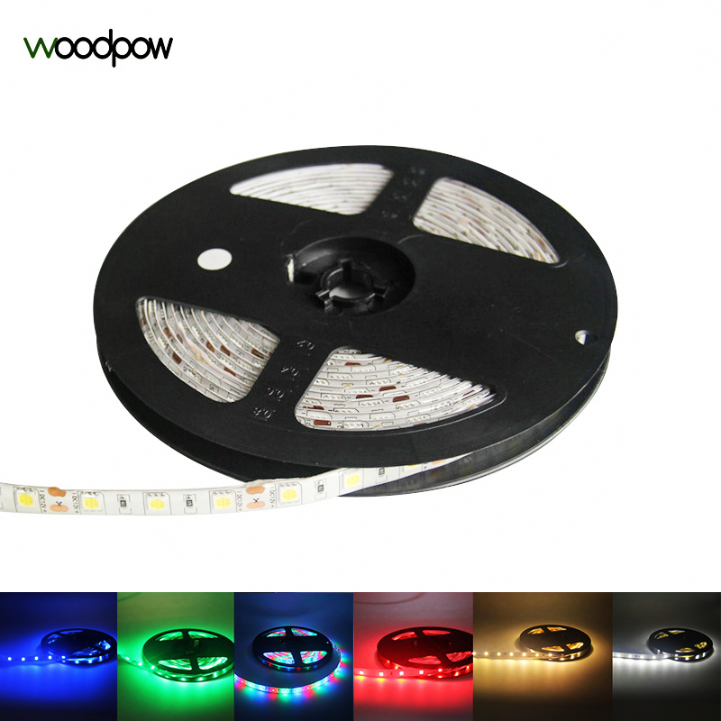Woodpow Super Bright LED Light Strip 12V DC SMD2835 60LED/m 0.5m 1m 3m 5m RGB Warm White Green Red Set Flexible Night Light EU 42w 625nm 16lm 60x5050 led red light strip 3m length dc 12v