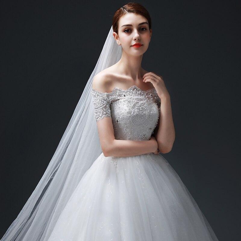 Vestido de Noiva Off-the-ώμου μπάλα φόρεμα - Γαμήλια φορέματα - Φωτογραφία 5