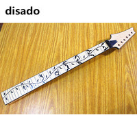 disado 24Frets reverse headstock maple Electric Guitar Neck maple fingerboard inlay black tree of lifes Guitar accessories parts