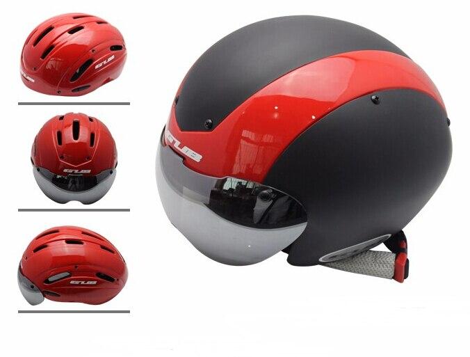 купить GUB TT Cycling Helmet Track Bike MTB Road Bike capacete Helmet casco With Magnetic UV Visor Bicycle Helmet Safety Cap по цене 2599.85 рублей