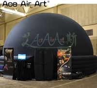 6 m diameter High Quality Inflatable Planetarium dome,Projection screen marquee Tent with zipper door for Sale