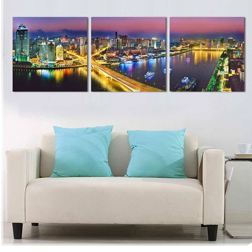 online get cheap wall stickers cityscape aliexpress com alibaba 3 home wall digital painting home decoration wall stickers art canvas