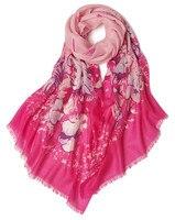 100%goat cashmere vintage printed women's fashion elegant thin scarf shawl pashmina 70x190cm 2color