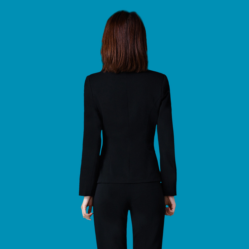 Casual Solid Women Pant Suits Notched Collar Blazer Jacket & Pencil Pant Female Suit Autumn 2019 High Quality