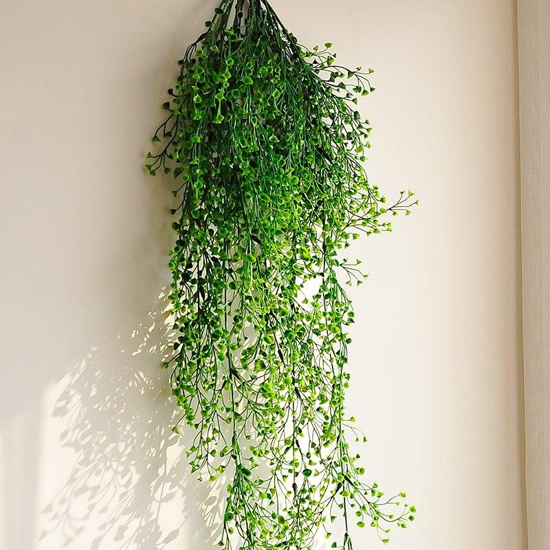 Flower vine rattan hanging plant artificial plant leaves for Ikea plantes artificielles