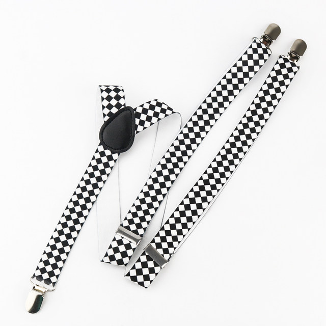 Online Shop Mantieqingway 3 Clip On Y Back Braces Elastic Suspender