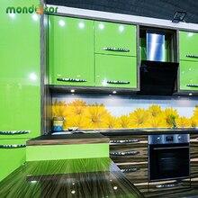 Neue Glänzend PVC Wasserdichte selbstklebende Tapete Für Küchenschrank Kleiderschrank Schrank Kontakt Papier Wohnkultur Wandaufkleber
