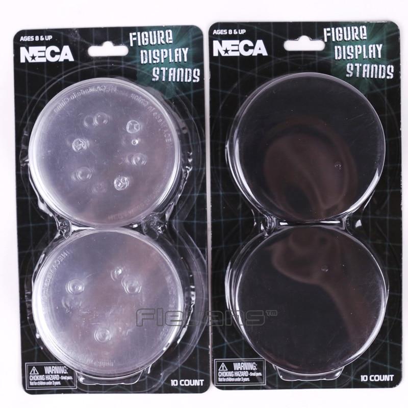 Figure Display Stands 10 count black NECA