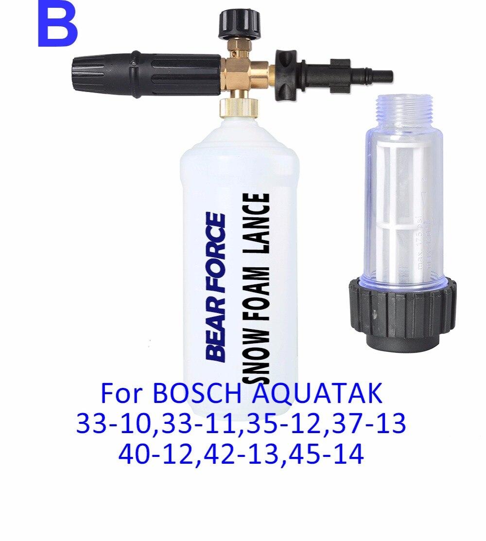 Foam Nozzle Snow Lance Water Filter For Bosche Aqt 33 10 High Pressure Washer Bosch Aquatak Aqt33 11 01 02