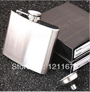 5oz Stainless Steel Hot Selling Hip Flask Pocket Bottle for Whiskey Liquor with Funnel