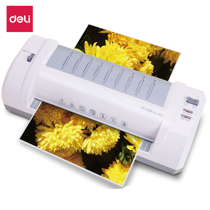 Deli Pouch Laminator Machine Paper/File/Photo/Card/Document Film Thermal Laminating Machine W/ Free Paper Trimmer Cutter