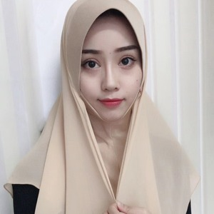 Image 3 - イスラム教徒の女性のhijabsファッションシフォンヒジャーブ/スカーフ/キャップフルカバーインナーイスラムヘッド磨耗帽子underscarf便利な