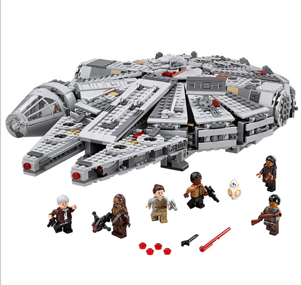 LEPIN Star Wars Millennium Falcon Building Block Set Rey Finn Han Solo Chewbacca Minifigures bb8 Kid Toy legoe 75105 Compatible
