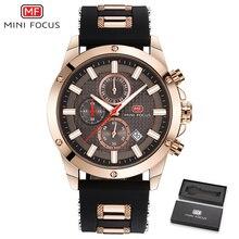 цена на Mens Watches Top Brand Luxury MINIFOCUS Men Sport Watch Military Waterproof Analog Quartz-watch Silicone Clock Relogio Masculino