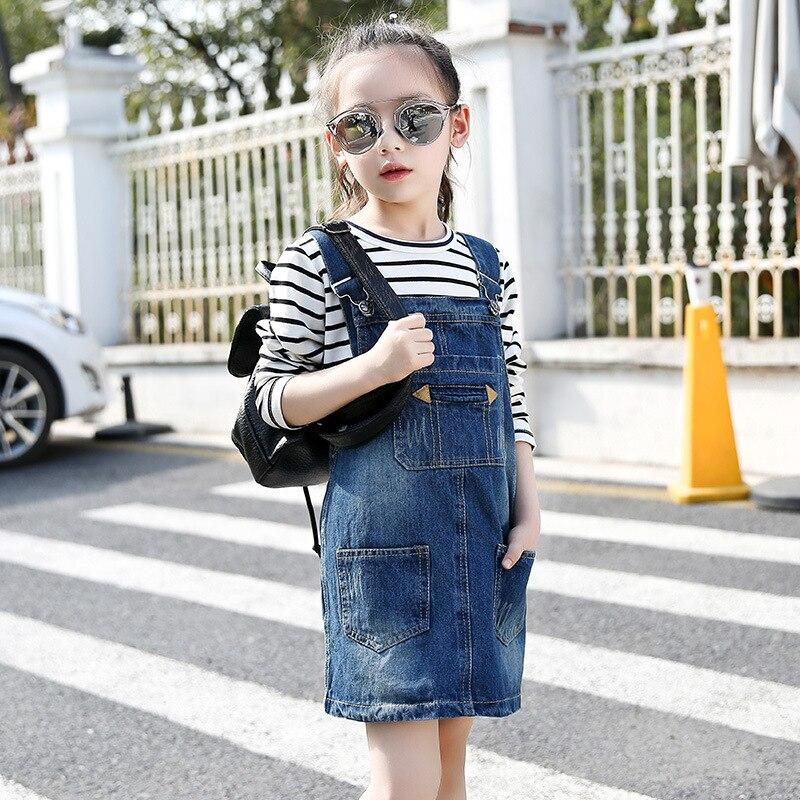 bb7e3f8189d hot sale 2017 new arrival Baby Girls Kids Cat Denim Overalls Dresses ...