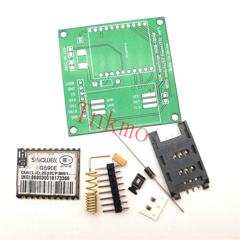 Free shipping 1set M590E M590 GSM GPRS module 900m-1800m sms The message Diy kits  CPU MCU test simcom 5360 module 3g modem bulk sms sending and receiving simcom 3g module support imei change