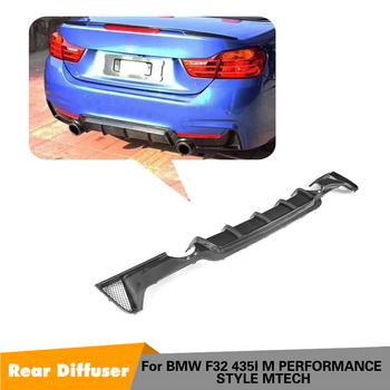 For BMW F32 F33 M Sport Only 2014 - 2017 4 Series Rear Bumper Lip Diffsuer Spoiler One outlet Two side Carbon Fiber Diffuser image