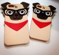 Cute Pug Dog wear Glasses 3D Silicone Back Case Cover For iPhone 6 6s 6plus 4.7''5.5'' Rubber Case