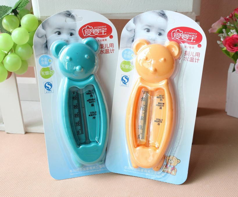New Portable cute baby bath thermometer bear for Water temperature ...