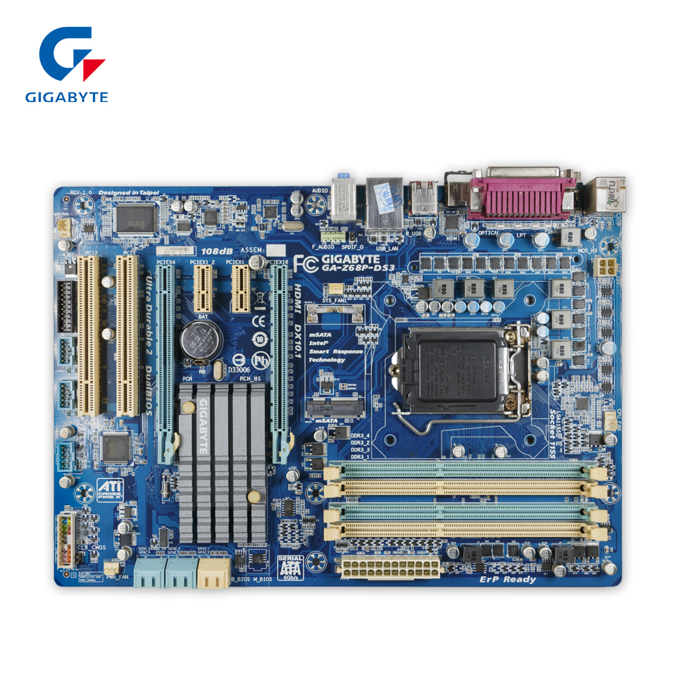 Gigabyte GA-Z68P-DS3 Original Used Desktop Motherboard Z68P-DS3 Z68 LGA 1155 i3 i5 i7 DDR3 32G SATA3 ATX