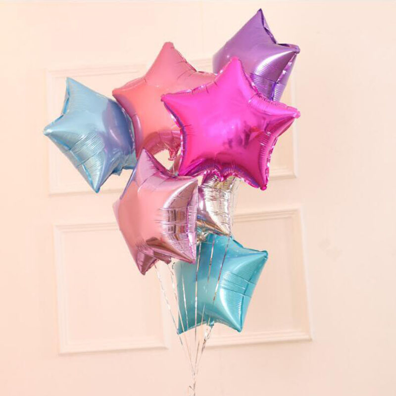 18 Inch Star Balloon Aluminum Foil Balloon Party Decor Props Birthday Wedding Baby Shower Party Decorations