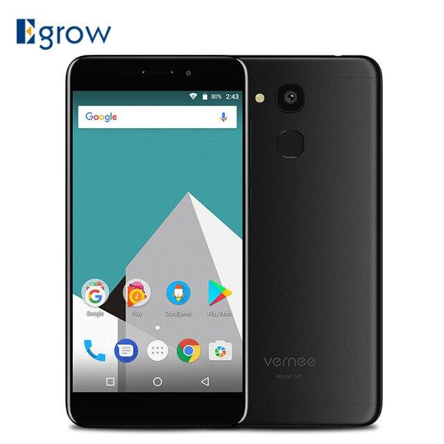 Vernee M5 MT6750 Octa-core Android 7.0 Cell phone 4G RAM 64G ROM 5.2 Inch 13MP 3300mAh 4G Dual SIM Fingerprint Sensor Smartphone