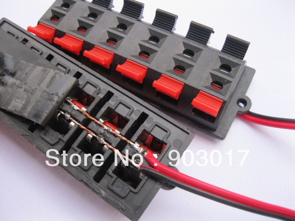 2 pcs speaker terminal board connector spring loaded 12 way with rh aliexpress com speaker wiring connections stereo wiring connectors