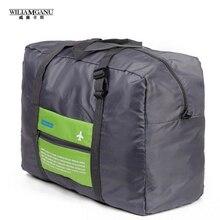 Wiliamganu novo estilo 2016 moda saco de viagem de grande capacidade das mulheres sacos de lona dobrável mulheres bagagem bolsas de viagem à prova d' água(China (Mainland))