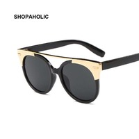 2017 New Cat Eye Brand Designer Sunglasses Women FeMale Fashion Lady UV400 Mirror Gothic Sun Glasses for Women Oculos De Sol