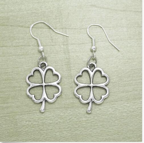deca439bdec5f US $24.99 |30Pair/lot New Fashion Jewelry Lucky Charm 4 Leaf Clover Antique  Silver Drop Dangle Earring Women Girl Gift-in Drop Earrings from Jewelry &  ...