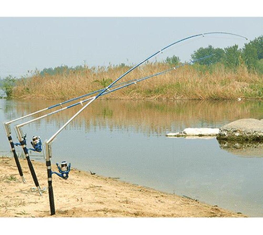1.8/2.1/2.4/2.7 M Canna Da Pesca Automatico Mare Lago In Acciaio Inox Automatico Canna Da Pesca di Pesce Pole