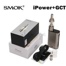 Original Eleaf iPower TC 80W Box Mod with Smok GCT Tank Kit 5000mah Battery E Cigarette Vape Box Mode Vaporizer
