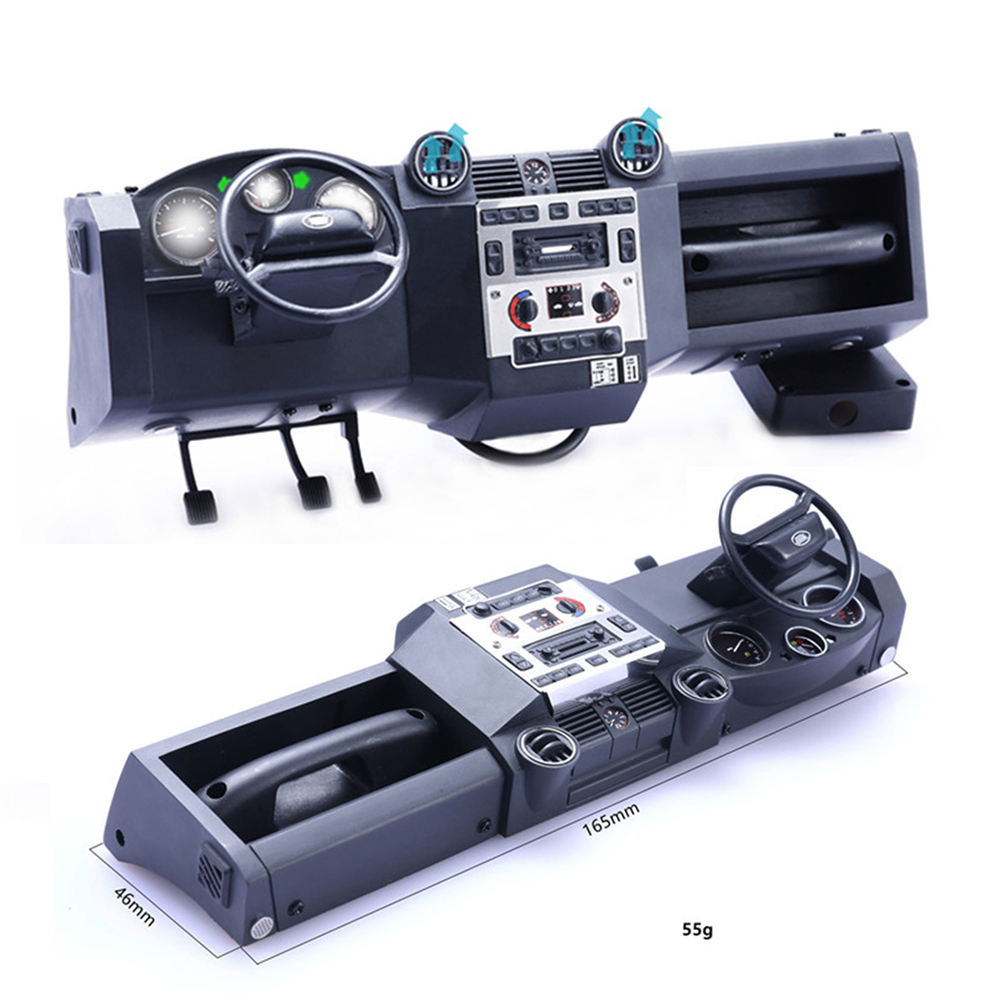 Simulation Center Console Kit for Traxxas TRX4 Land Rover Defender RC Car DIY Part Self-contained fan Dial light integrationSimulation Center Console Kit for Traxxas TRX4 Land Rover Defender RC Car DIY Part Self-contained fan Dial light integration