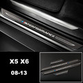 ///M performance Welcome pedal Carbon fiber External Threshold bar strips Car styling 3D stickers For BMW X5 E70 X6 E71 2008-13