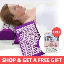 KONGDY акупунктурный коврик и подушка акупунктурная Подушка Акупрессура массаж снимает боль в спине головная боль помогает сну