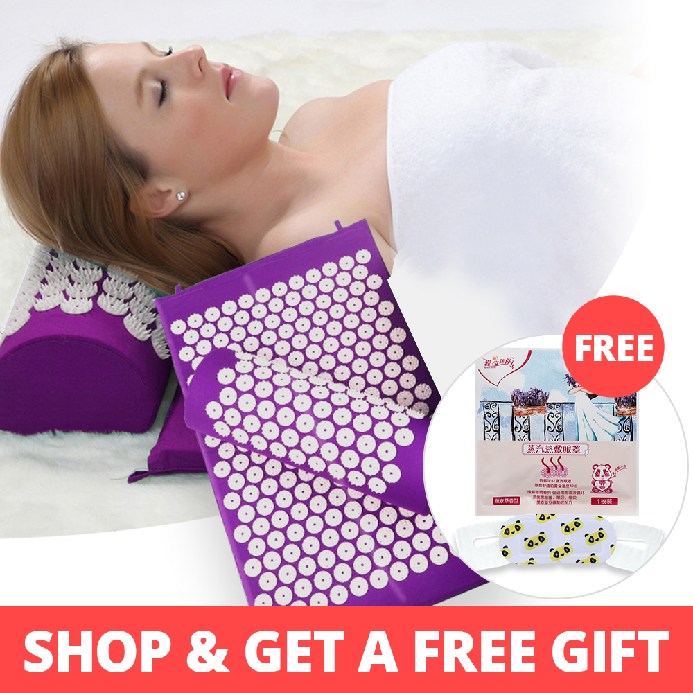 KONGDY Acupuncture Mat And Pillow Acupuncture Cushion Acupressure Massage Relieve Back Pain Headache Help Sleep