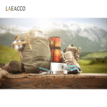 Laeacco Wood Traveling Equipment Backpacker Backdrop Photography Background Customized Photographic Backdrops For Photo Studio