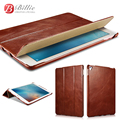 Original Icarer Vintage Series Genuine Leather Cover for iPad Pro 9.7 inch   Retro remium Leather Maganetic Smart Flip Case