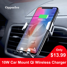 Oppselve Wireless Charger Car Mount Qi Fast Charging For Samsung S9 Note9 Holder iPhone XS X 8