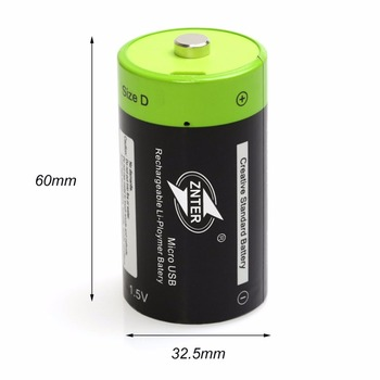 ZNTER 1.5V 4000mAh Battery Micro USB Rechargeable Batteries D Lipo LR20 Battery For RC Camera Drone Accessories 6