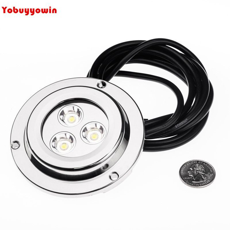 Free Shipping 2PCS 9W Blue/White Color Marine Yacht Boat motorboat pleasure boat barge Transom Underwater Led Flood Light Lamp 1 2w led light bulb 2835smd stainless steel anchor stern light waterproof ip67 white boat transom marine lamp lighting dc12v