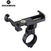 ROCKBROS Adjustable Universal Aluminum Bike Phone Mount Stand For 3.5 6.2inch Smartphone Bicycle Handlebar Mount Holder Bracket