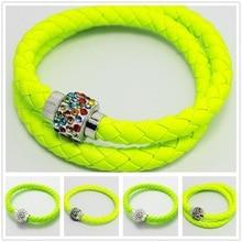Shamballa Green Bracelet Jewelry Best Christmas Gift Micro Pave Disco Ball Bright Green Crystal Crystal Shamballa Bracelet