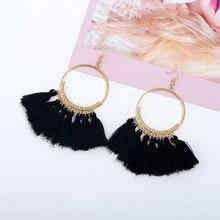 Ethnic Big Drop Earrings Bohemia Fashion Jewelry