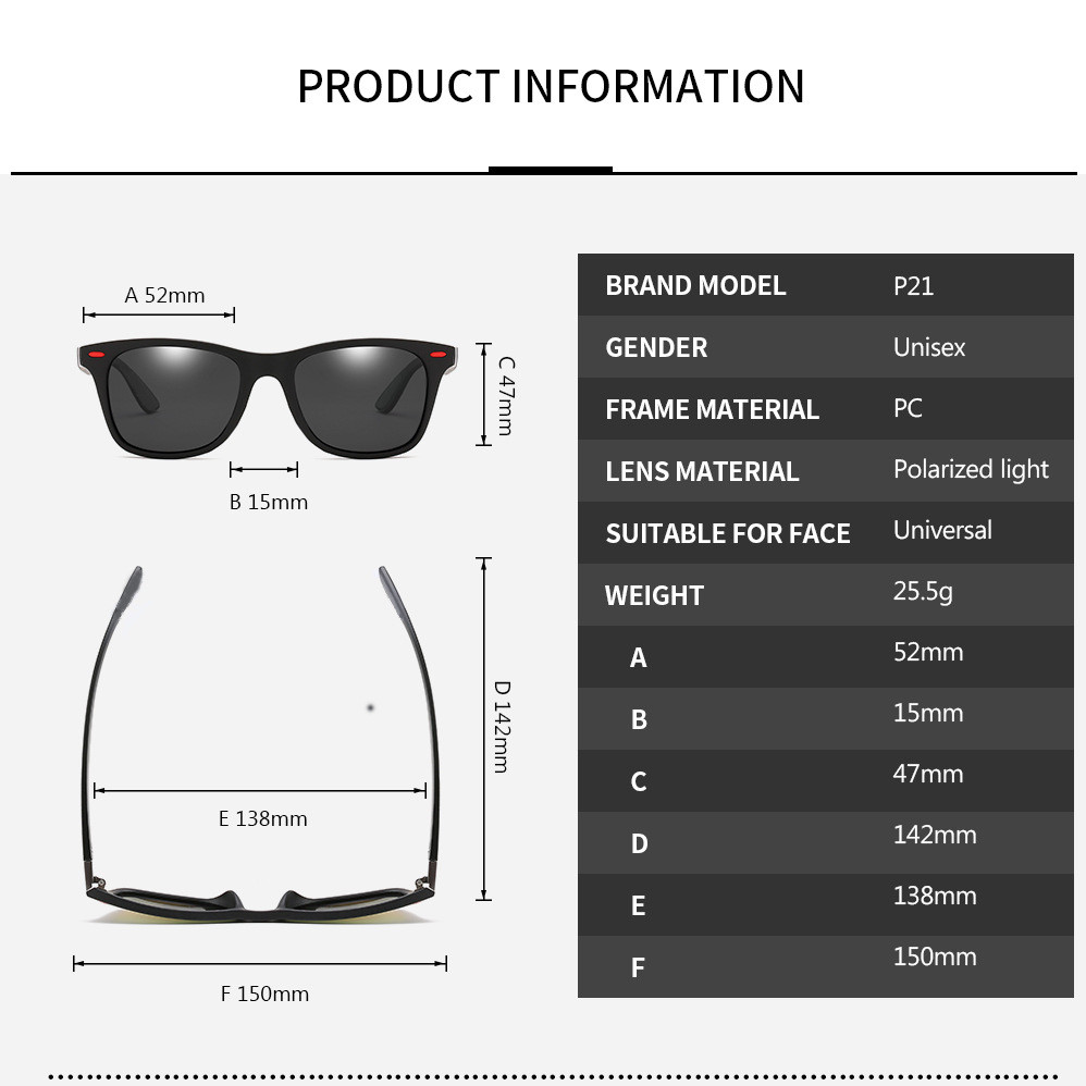 ZXWLYXGX Classic Polarized Sunglasses Men Women Brand Design Driving Square Frame Sun Glasses Male Goggle UV400 Gafas De Sol 3
