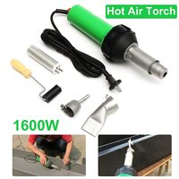 High Quality 1600W 50Hz Electronic Heat Hot Air Torch Plastic Welding Welder Torch Nozzle Pressure Roller