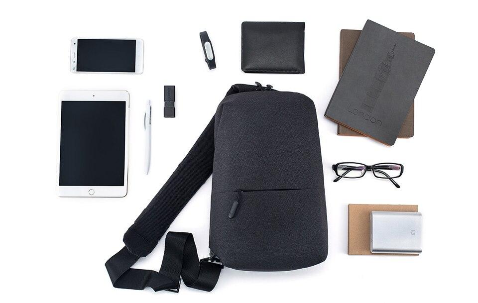 955a7c201517 ... Xiaomi Sling Chest Bag Waterproof Sling Bag Urban Leisure Shoulder Bag  Sport Backpack Unisex Rucksack ...