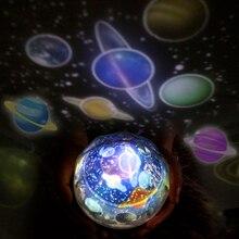 Gwiaździste niebo projektor gwiazda lampa księżyc LED lampka nocna kosmos wszechświat przedszkole światło dekoracja sypialni dziecięcej dla dzieci prezent na boże narodzenie