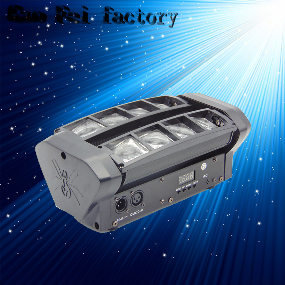 Moving Head LED Top Sale DMX Stage Lighting Effect MINI Beam Spider 8x6W RGBW For Party Weeding Disco Bars DJ KTV